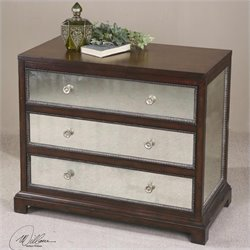 Uttermost Jayne Mirrored Accent Chest in Deep Espresso