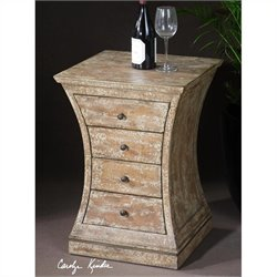 Uttermost Avarona Rustic Accent Chest in Antiqued Ivory Crackle Paint