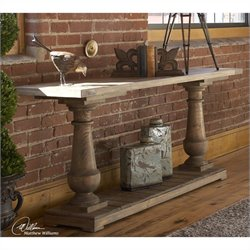Uttermost Stratford Rustic Console Table in Stony Gray Wash