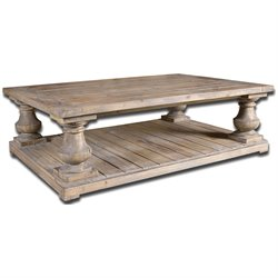 Uttermost Stratford Rustic Cocktail Table in Stony Gray Wash