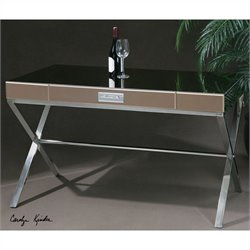 Uttermost Lexia Modern Bronze Mirror-Faceted Desk