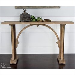 Uttermost Genessis Wood Console Table in Natural Sun Bleached