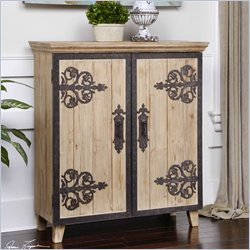 Uttermost Abelardo Lightly Stained Rustic Fir Wood Console Accent Chest