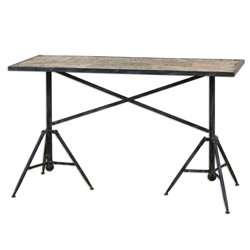 Uttermost Plaisance Console Table in Black Iron