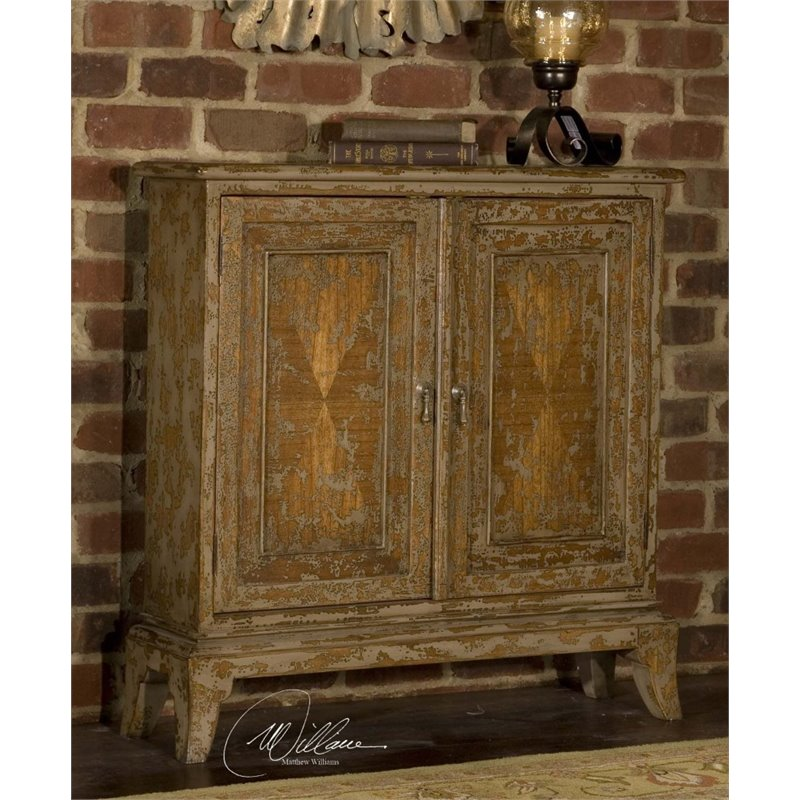 Uttermost Maguire Accent Cabinet in Warm Oatmeal