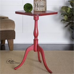 Uttermost Valent Accent Table in Raspberry