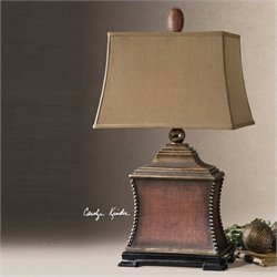 Uttermost Pavia Aged Red Table Lamp