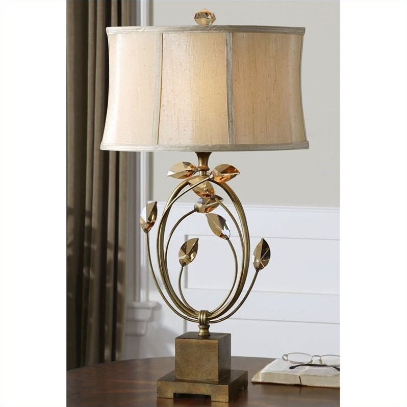 Uttermost Alenya Burnished Gold Metal Accented Table Lamp