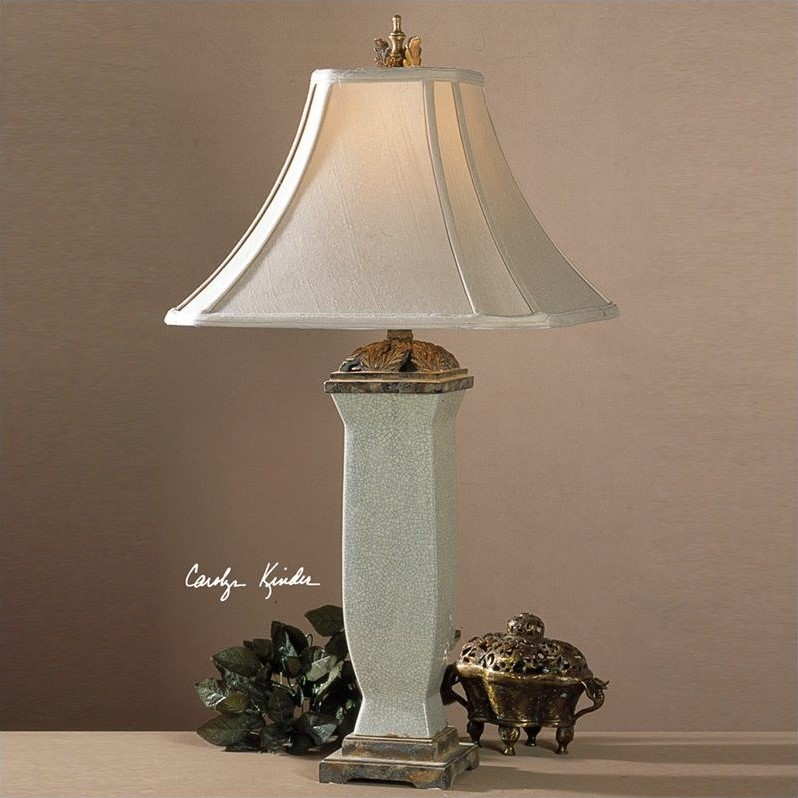 Reynosa Porcelain Table Lamp in Light Blueish Gray Wash