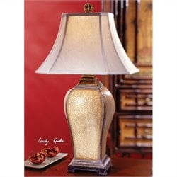 Uttermost Baron Table Lamp in Ivory Crackled Finish
