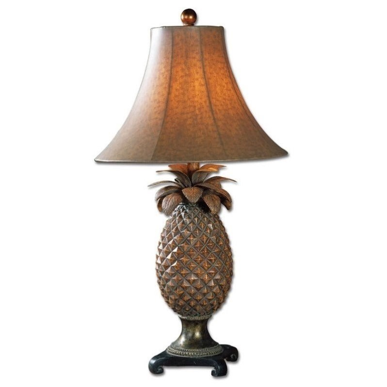 Uttermost Anana Bronze Accets Table Lamp in Brown Glaze
