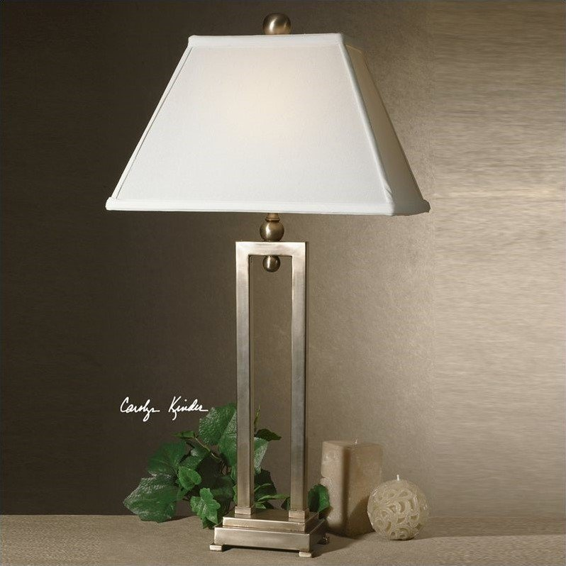 Uttermost Conrad Table Lamp In Brushed Aluminum