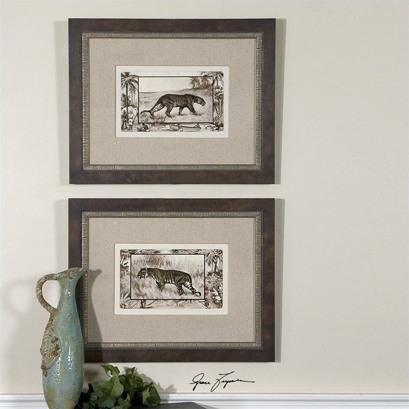Big Cats Framed Art (Set of 2)