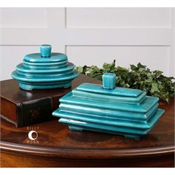 Uttermost Indra Bright Blue Boxes (Set of 2)