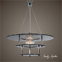 Gyrus 1 Light Smoke Glass Chandelier