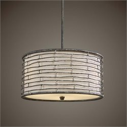 Uttermost Smida 3 Light Rustic Hanging Shade