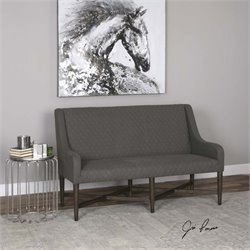 Uttermost Kallen Gray Linen Bench
