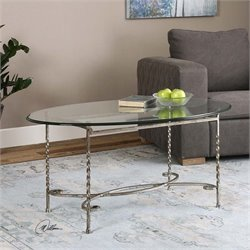 Uttermost Nuncia Glass Coffee Table