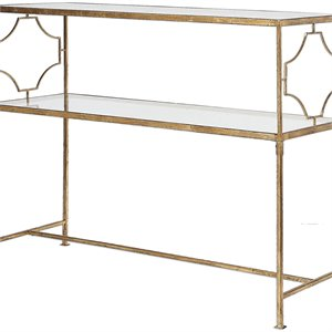 Uttermost Genell Gold Iron Console Table
