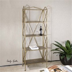 Uttermost Yulia Antique Gold Etagere
