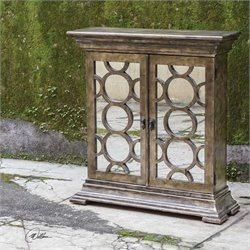 Uttermost Glasson Mirrored Console Cabinet