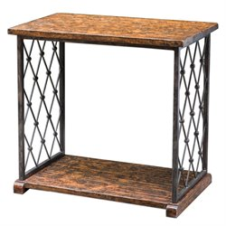 Castalia End Table in Aged Wood