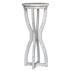 Uttermost Noreena Wood Plant Stand in Aged White