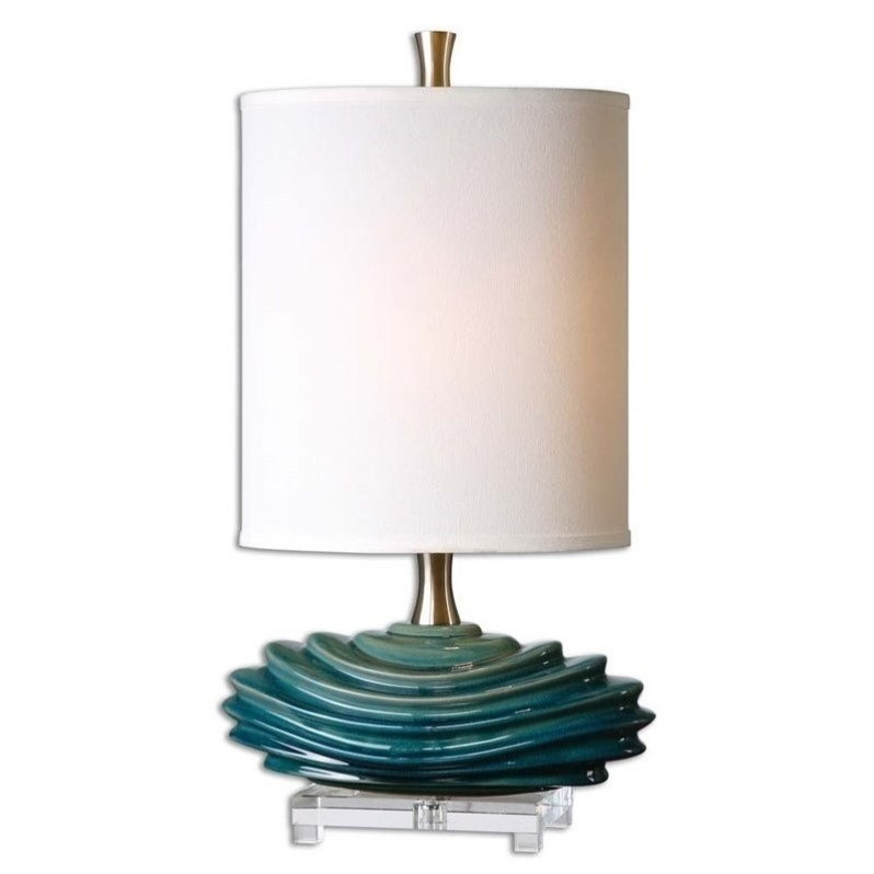 Uttermost Talucah Teal Blue Table Lamp