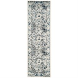 Safavieh Evoke 8' X 10' Power Loomed Rug in Gray and Ivory
