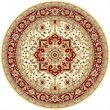 Safavieh Lyndhurst 10' Round Power Loomed Rug in Ivory and Red