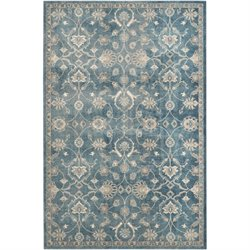 Safavieh Sofia 8' X 10' Power Loomed Rug in Blue and Beige
