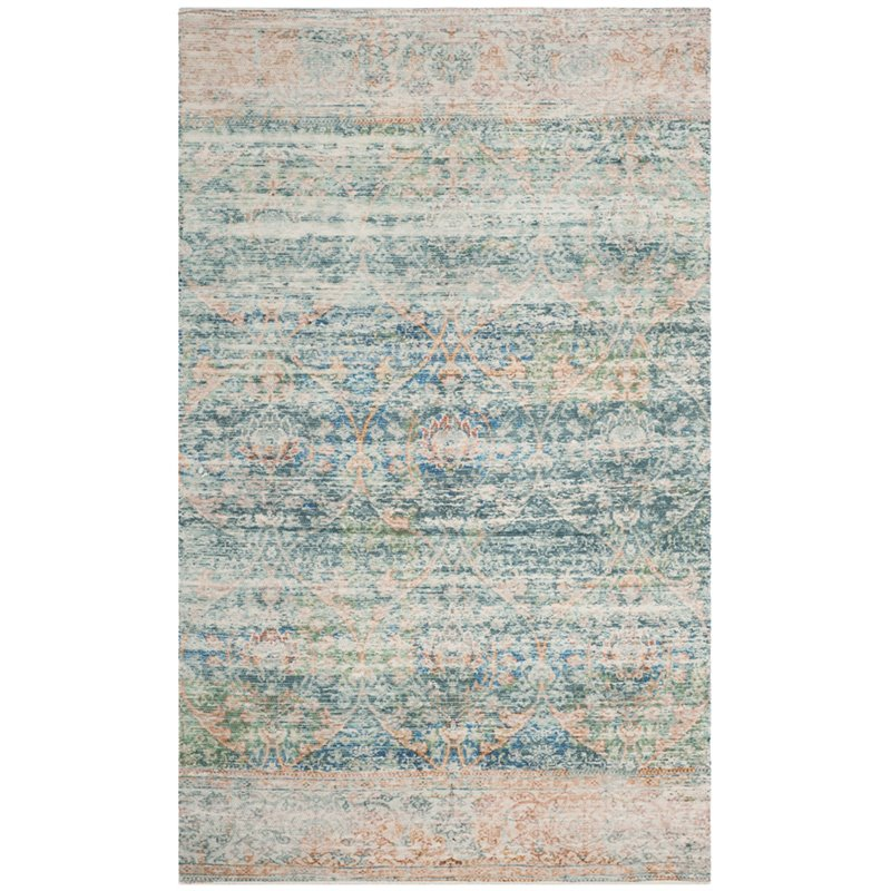 Safavieh Saffron 8' X 10' Hand Loomed Rug In Turquoise And