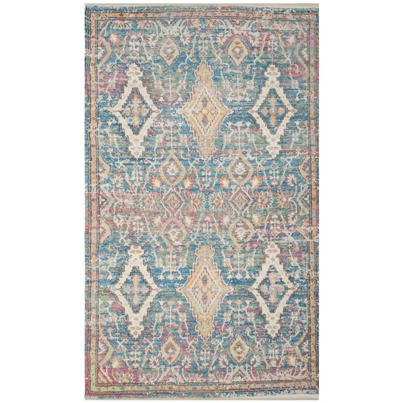 Safavieh Saffron 6' X 9' Hand Loomed Rug In Turquoise And