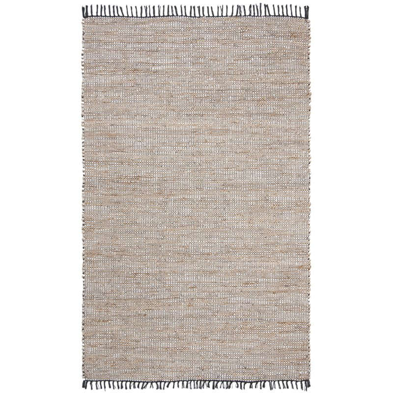 Safavieh Vintage 6' x 9' Hand Woven Leather Rug in Brown and Beige