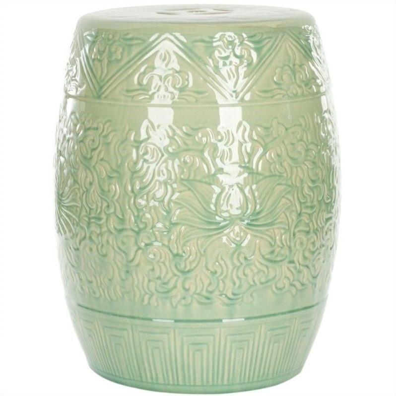 Safavieh Ceramic Garden Stool in Lime Green