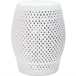 Safavieh Diamond Ceramic Garden Stool in White