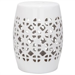 Safavieh Circle Lattice Ceramic Garden Stool in White