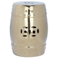 Safavieh Modern Ming Ceramic Garden Stool in Gold