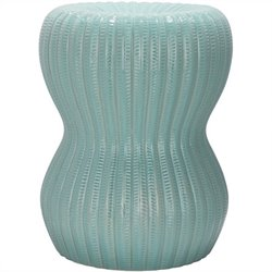 Safavieh Hour Glass Ceramic Garden Stool in Light Aqua
