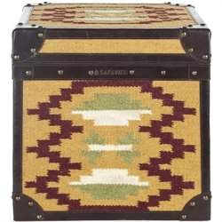 Safavieh Ben Assorted Color Square Trunk in Golden Brown