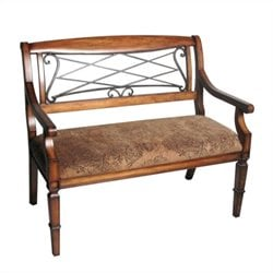 Safavieh Gramercy Antique Bench in Cherry and Light Brown