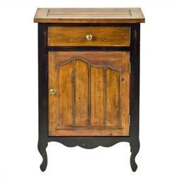Safavieh Logan Fir Wood Cabinet in Cherry and Black