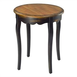 Safavieh Kailey Round Side Table in Cherry and Black