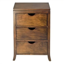Safavieh Bailey 3 Drawer Chest in Brown
