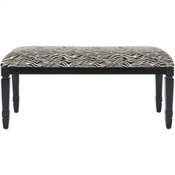 Safavieh Mona Bench in Black and Zebra