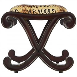 Safavieh Roxie Hand-carved Stool in Zebra