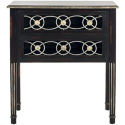 Safavieh Patricia Birch and Iron Side Table in Dark Brown