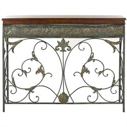 Safavieh Cynthia Birch and Iron Console in Brown