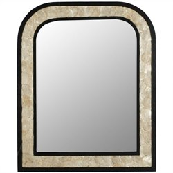 Safavieh Gregory Birch Wood Mirror in Dark Brown