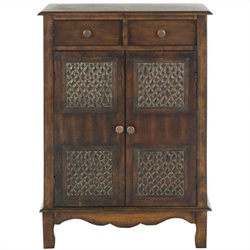 Safavieh Herbert Birch Wood Chest in Dark Brown